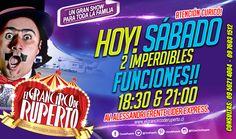 ATENCIÓN!!! HOY EN CURICÓ!!! Lo estabas esperando!!! Sí!! Hoy!!! el increíble Circo de Ruperto! en Curicó!! y te sorprenderá con 2 espectaculares funciones!!!! PARA TODA LA FAMILIA!!!