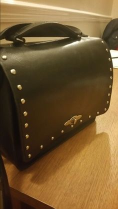 #ROCK STUD leather saddle bag with grab handle.... available to order..