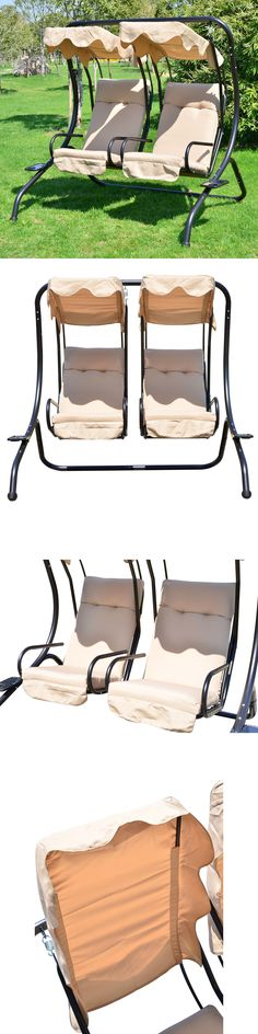Swings 79700: Outdoor Patio Swing Canopy 2 Person Seat Hammock Bench Yard  Furniture Loveseat