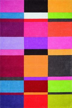 Tapis multicouleur LOVE 4 multicolor en laine de la collection Ligne Pure