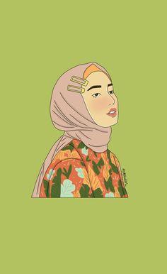 Its @ismaaayaaa 🎨🎨 Hijab Drawing, Anime Muslim, Hijab Cartoon, Framed Wallpaper, Cute Little Drawings, Greeting Card Template, Madina, Stylenanda, Hijabs