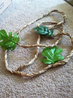 Weird Animals VBS Vines- Twisted craft/packing paper and dollar store leaves
