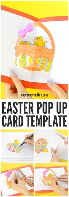 Adorable DIY Easter Pop Up Card Craft for Kids