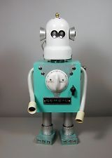 """""""MIRRO-MATIC"""" Found Object Robot  Sculpture Assemblage  Sally Colby"""
