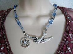 Vogel godin Pentacle ketting Wicca sieraden door Sheekydoodle