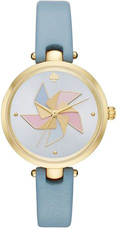 a7da4d42a05 Main Image - kate spade new york holland pinwheel leather strap watch