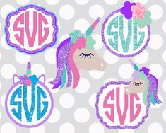 UNICORN svg unicorn monogram svg unicorn party by ShortsandLemons