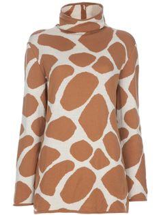 Valentino Knitwear for Women Giraffe Print, Perfect World, Christmas Fashion, Walk On, Jumper, Valentino, High Neck Dress, Pullover, My Style