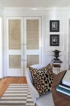 CANE DOORS + LAUNDRY NOOK | Hunted Interior love the doors and handles!