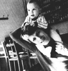 David and Duncan (Zowie Bowie) taken by Angie Bowie.