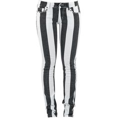Wide Stripe Skarlett (Slim Fit) - Pantalon en toile par Gothicana by EMP