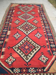 """A stunning example of a Luri Kilim from the 1920's. The size is 5'10""""x 12'6""""…"""