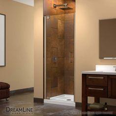 "Dreamline SHDR-4128720 Elegance 72"" High x 30-3/4"" Wide Pivot Frameless Shower D Brushed Nickel Showers Shower Doors Pivot"