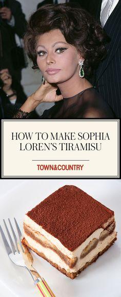 How to Make Sophia Loren's Tiramisu  - TownandCountrymag.com