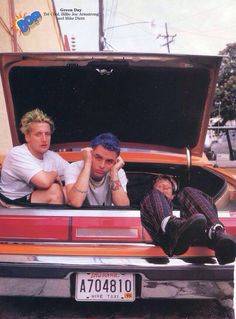 Dookie-Insomniac era, Green Day. Left to Right: Tre Cool, Billie Joe, Mike Dirnt