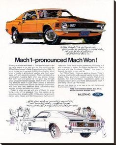 Vintage Cars Muscle 1970 Ford Mustang Mach 1 Advertising Hot Rod Magazine April My first introduction to what would become my career in advertising. Mustang Mach 1, 1970 Ford Mustang, Mustang Cars, Car Ford, Ford Mustangs, Mustang Fastback, Classic Mustang, Ford Classic Cars, Ford Lincoln Mercury