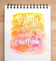 Masked Lettering with Watercolor Background - Kristina Werner - visit for video