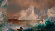 [フリー絵画素材] フレデリック・エドウィン・チャーチ - 氷山 (1861) ID:201306150000