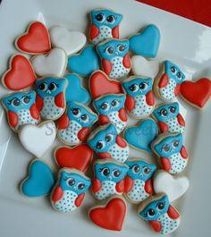 Owl cookies - Patriotic Owl cookies - 2 dozen by SweetArtSweets on Etsy https://www.etsy.com/listing/103778243/owl-cookies-patriotic-owl-cookies-2