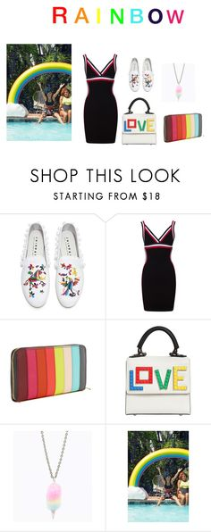 """""""Rainbow"""" by realjulielarsen ❤ liked on Polyvore featuring Joshua's, Sophie Hulme, Les Petits Joueurs, Urban Outfitters and rainbow"""