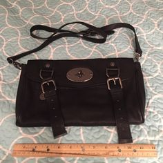 NEW! Mulberry bag, never used, black purse New, unused condition, no defects, soft leather, protective plastic still over main latch. All magnetic closures inside & out. Mulberry insignia on liner fabric, all hardware says Mulberry. Mulberry Bags Shoulder Bags