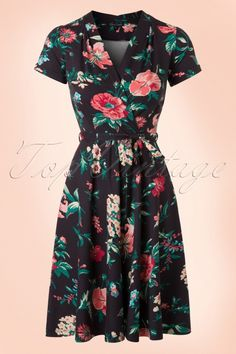 King Louie Lucille Brown Floral Dress 102 79 16631 20160215 0004W