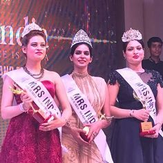 Tiara girl Megha Dubey wins First Runner up at Mrs India , She is India 2017. She will be representing India at Mrs Universal