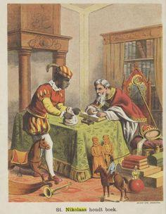 St. Nikolaas en zijn knecht ca. 1885