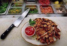 Side Street Inn Pork Chop Recipe Chopped Steak Recipes, Pork Chop Recipes, Meat Recipes, Cooking Recipes, Entree Recipes, Dinner Recipes, Sides For Pork Chops, Hawaiian Dishes, Hawaiian Recipes