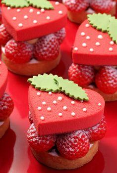 Heart & Strawberry Cake