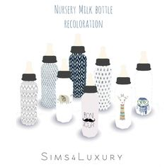 Nursery milk bottle recolors at Sims4 Luxury • Sims 4 Updates