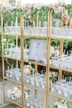 Are you and your fiancé bubble tea fanatics? Repurpose sippy cups as escort cards. Guests can fill em up with their tea flavor of choice at the adjacent boba station (that should go in right next door! Wedding Favors, Wedding Reception, Wedding Decorations, Boba Bar, Debut Party, Dream Wedding, Wedding Day, Wedding Gold, Rustic Wedding