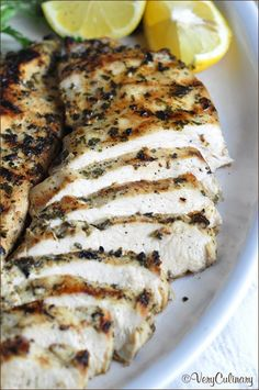 This simple no-fail grilled chicken recipe can be enjoyed with any vegetable for an easy weeknight meal. Use up any left overs in a sandwich the next day! @veryculinary