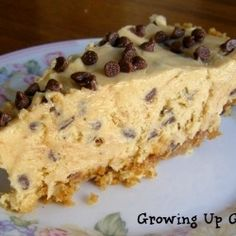 Peanut Butter Chocolate Chip Pie - A super easy, homemade pie -- don't skip the crust it's amazing!