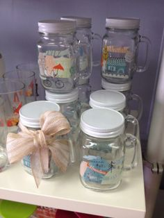 Happy summer! Stop by the shop to pick up some supplies to make summer even better!  These mason jar mugs are one of my personal favorites :) :) :)