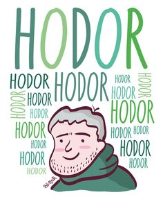 Hodor - Game of thrones Art Print Hodor Game Of Thrones, Game Of Thrones Books, Game Of Thrones Images, Stuff And Thangs, Game Art, Art Prints, Tv, Frases, Art Impressions