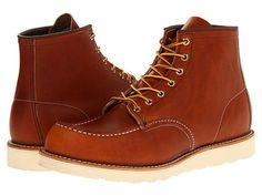 "Red Wing Heritage 6"" Moc Toe Copper Rough & Tough Leather - Zappos.com Free Shipping BOTH Ways"