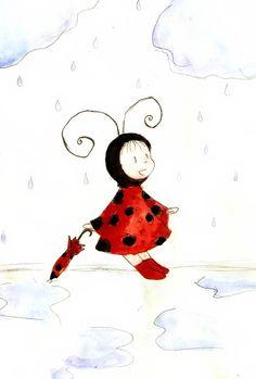 Little Ladybug , Rainy Day by ChiuuChiuu on deviantART