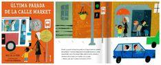 """""""Última parada de la calle Market"""", Matt de la Peña y Christian Robbinson, ed. Corimbo (+6 años): un cuento que de forma sutil y natural nos muestra las desigualdades y la realidad social que nos ha tocado vivir. Un niño se pregunta por qué debe ir en autobús y no en coche como sus amigos, o por qué ellos tienen bicicleta y él no, o por qué no puede tener un iPod para escuchar música. Su abuela, con cariño y paciencia, le hará ver que las cosas importantes son otras y que a menudo nos pasan… Montessori, Marketing, Spanish, Movies, Movie Posters, Natural, Socialism, Shape, Listening To Music"""