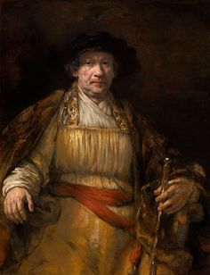 Rembrandt @ Magna Plaza. Self-Portrait, 1658; 133.67 cm x 10.32 cm; Frick Collection, New York