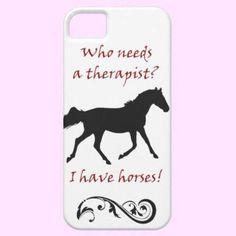 Cute Horse Therapist iPhone 5 Case-Mate Case from Zazzle.com