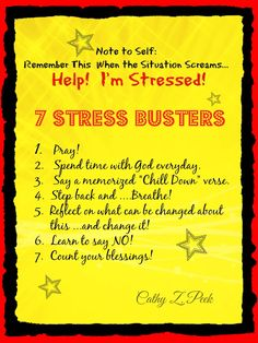 7 Stress Busters at Life Bubbling Over! cathyzpeek.com