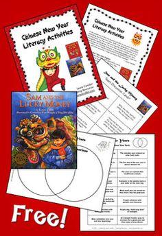 Classroom Freebies: Chinese New Year Literacy Freebie 2 grade or higher Chinese New Year Activities, Chinese New Year Crafts, New Years Activities, Holiday Activities, Classroom Activities, February Holidays, School Holidays, January, New Year's Crafts