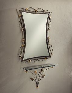 Iron Furniture, Steel Furniture, Deco Furniture, Wrought Iron Decor, Wrought Iron Gates, Vanity Makeup Rooms, Console, Metal Projects, Metal Art