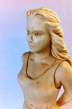"""Mike Pounders Wood Carving: """"Barefoot Girl"""""""