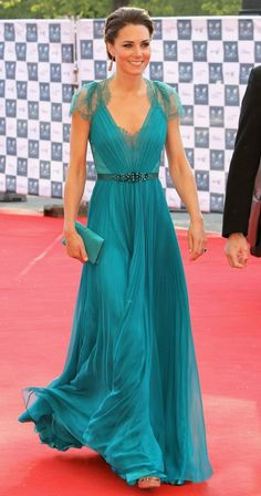 Kate in gorgeous teal dress