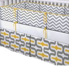 Blvd67 Geo 3 Piece Baby Crib Bedding Set, Gray Yellow and White by Blvd67, http://www.amazon.com/dp/B00EXNSKSE/ref=cm_sw_r_pi_dp_17pjsb093R6DF