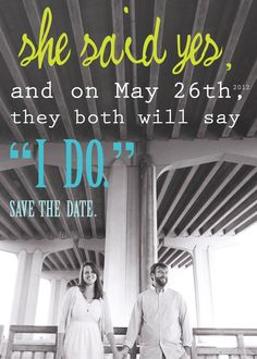 Wedding Save the Date  She said yes by handiDesign on Etsy, $12.00