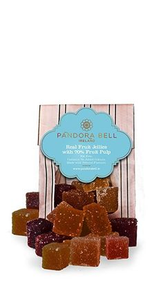 Pandora Bell's Fruit Jellies are made with 70% pure fruit. Gorgeously simple, the taste of fresh fruit bursts from every square. Taste the tang of real strawberries, apricots, lemons, raspberries and pears. As if that wasn't enough… Pandora Bells Real Fruit Jellies are Fat Free and suitable for vegans. Gluten free Dairy free Vegan and …