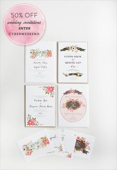 wedding invites on sale. yippy.